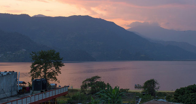 Sunset Over Phewa Lake Pokhara