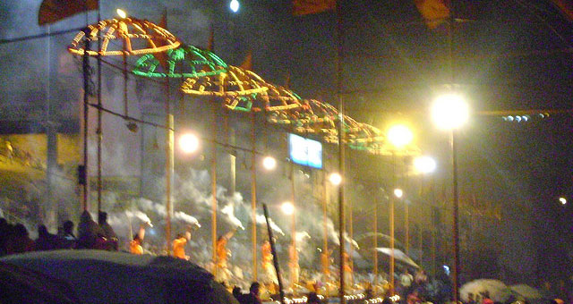 The Ganga Arti in Varanasi